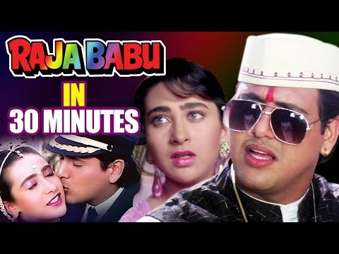 Download Raja Babu in 30 Minutes | Hindi Comedy Movie | Govinda | Karisma Kapoor