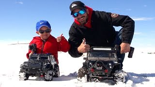 RC ADVENTURES - NEW Driver MOE Trails w/ Dad in SNOW! #ProudParenting - Traction & Traxxas