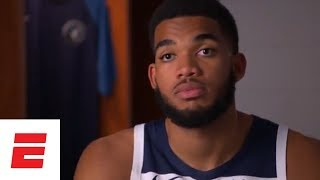 Karl-Anthony Towns on Jimmy Butler and teams expectations going into the 2018 NBA season | ESPN