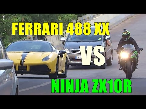 Xxx Mp4 Ferrari 488 XX Vs Ninja ZX10R INSANE Fly Bys LOUD Accelerations 3gp Sex