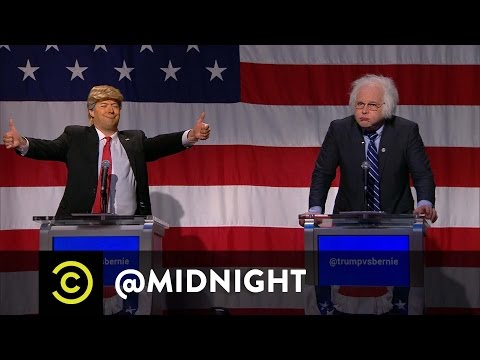 Trump vs. Bernie in the First Ever midnight Presidential Debate