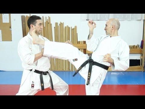 Técnicas de pierna Aprende karate Hasta cinturón azul Sapeando