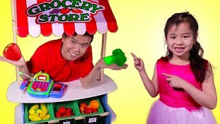 Jannie Buy Kitchen Toys Vegetables from The Supermarket – Fun Pretend Play