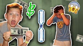 BOTTLE FLIPS FOR MONEY! THE ULTIMATE WATER  BOTTLE FLIP CHALLENGE!!