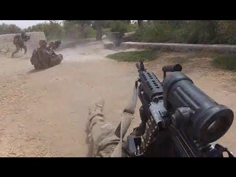 watch U.S. Army Patrol Ambushed in Panjwai District Kandahar - Helmet Cam Firefight