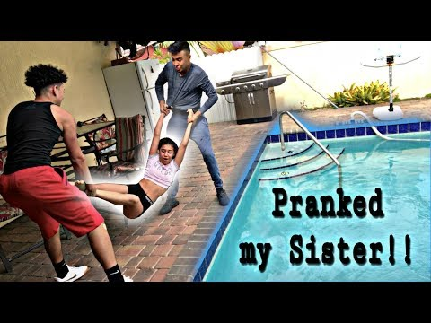 Xxx Mp4 Threw My SISTER In The POOL While She Was Sleeping PRANK 3gp Sex