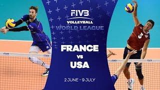 France v USA highlights - FIVB World League