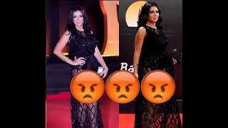 """شاهد """" فضيحة فستان الفنانة رانيا يوسف """" الذي أثار ضجة على مواقع التواصل !!"""