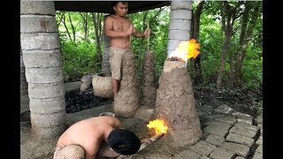 Primitive Technology with Survival Skills Upgrade Metal Furnace (Forge)