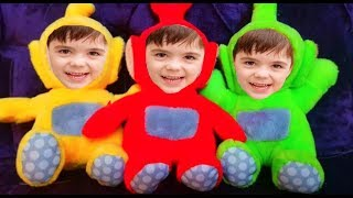 Five Little TELETUBBIES  Babies Jumping on the Bed * Kids Song