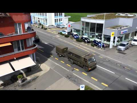 Swiss military vehicles on the go. Perhaps all of them?