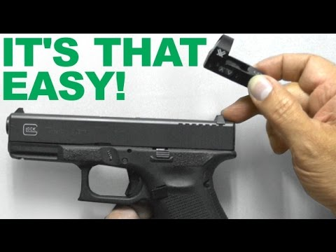 It s THAT Easy Replacing Rear Sight with Red Dot Sight Mount Vortex Venom installed on Glock