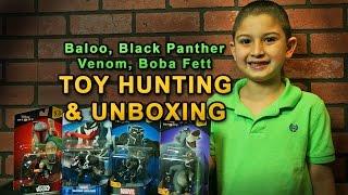 Toy Hunting & Unboxing [ Baloo, Boba Fett, Venom, Black Panther ] Disney Infinity Figures