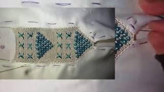 تعليم الرندة  بالعقيق على شكل اهرامات مع ام ياسمين  randa bi 3a9i9