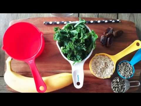 How To Make a Green Thickie - A Filling Complete Meal Green Smoothie