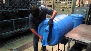 EXTRUSION BLOW MOULDING MACHINE   200 LTR FLUTECH MAKE VIDEO