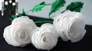 Flowers making | How to Make Rose Tissue Paper | Crepe paper flower making | Julia DIY