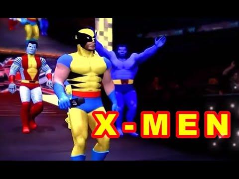 X MEN vs DC comics
