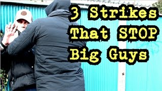 BIG GUY DEFENSE!  The 3 BEST Ways to STOP someone Attacking You!
