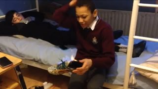 BURNING MY FRIENDS NEW SHOES!(skit)