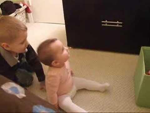 olivia and ian playing