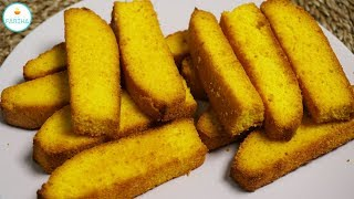 Cake Rusk - Tea Time Snacks Recipe By Cook With Fariha