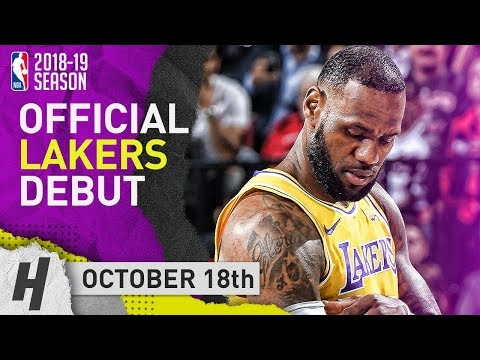 Xxx Mp4 LeBron James Official Lakers Debut Full Highlights Vs Trail Blazers 2018 10 18 26 Pts 12 Reb 3gp Sex