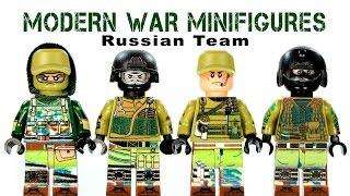 LEGO Modern Warfare: Russian Team KnockOff Minifigures Set 1 (DeCool)