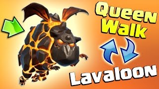 Queen Walk + Lavaloon : TH9 SUPER STRONG WAR ATTACK STRATEGY! | Clash of Clans