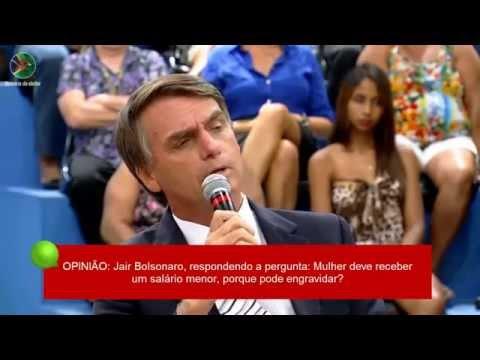 Bolsonaro Mulher tem que receber salário menor porque pode engravidar