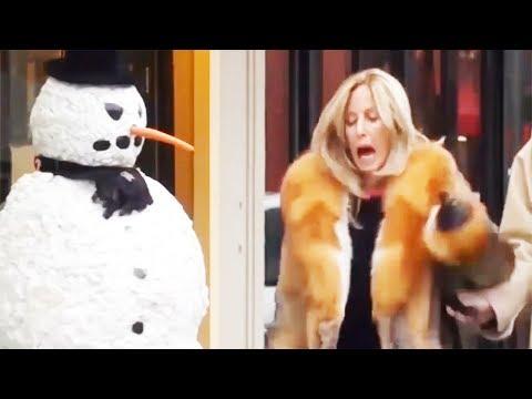 Todos se vuelven locos cuando este hombre de nieve viene a la vida