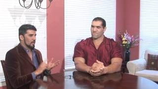 GREAT KHALI WITH AKBAR YUSSOUF