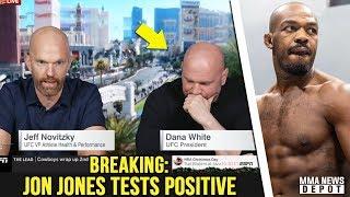 BREAKING: Jon Jones tests positive, UFC 232 moved to Los Angeles; Cormier reacts to Jones;Dana White