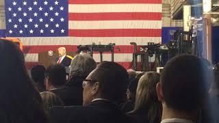 President Donald Trump makes 'deplorables' joke