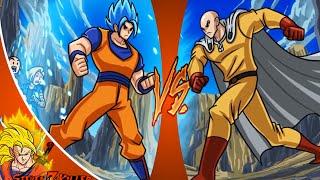 Goku Vs Saitama - What If Battle [ OPM/ DBZ Parody ] REACTION!!!