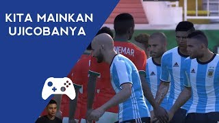 INDONESIA VS ARGENTINA - u22 - ujicoba 2017 - laga friendly timnas yang tertunda! - Bachdim - PES 17