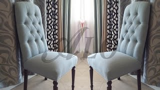 DIY-HOW TO REUPHOLSTER A DINING ROOM CHAIR WITH BUTTONS. - ALO Upholstery