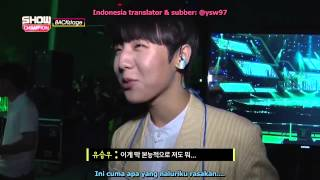 20150808 Yoo Seungwoo @ Backstage with GFriend's SinB Indonesia SUB