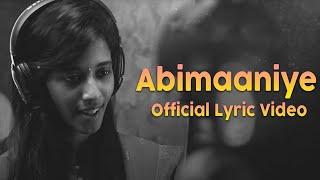 Abimaaniye - Official Lyric Video | En Aaloda Seruppa Kaanom | Ishaan Dev | Ondraga Entertainment