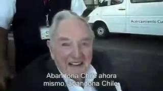 Ragazzo Cileno VOMITA su David Rockeffeler - Video Incredibile
