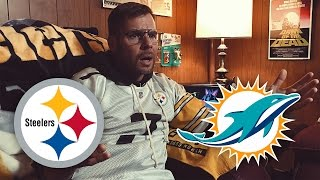 Dad Watches Steelers vs Dolphins (Week 6)