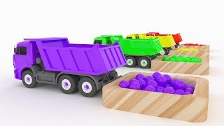 LEARN COLORS TRUCK CARS & Ball - Car For Kids 3D & Learn colors for children Colours for Kids