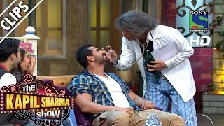 Dr. Gulati performing Tooth Test on John Abraham - The Kapil Sharma Show- Episode 27 -23rd July 2016