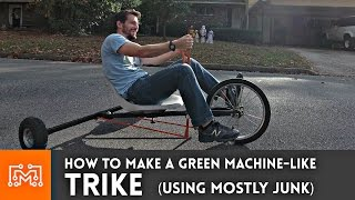 Trike (Green Machine) from junk - Part 1 // How-To