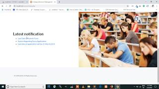 College admission Management System in PHP and MySQL