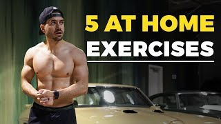 5 AWESOME Bodyweight Exercises ANYONE Can Do AT HOME | Alex Costa