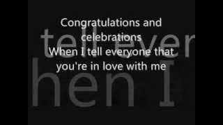 Congratulations by Cliff Richard lyrics