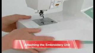 SINGER® FUTURA™ Converting to Embroidery Mode Tutorial