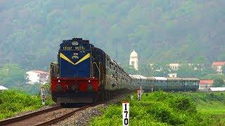 IRFCA] Dibrugarh-Kanyakumari Vivek Express blast past Deepor Beel behind UDL WDG3A!!!