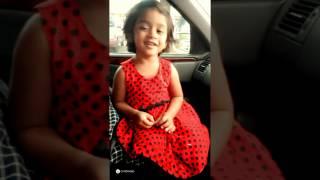 Baby Sharmika(2 years old) singing Ennai Kollathey song 😍